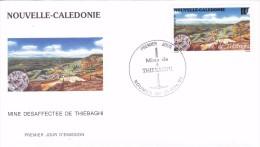 NOUVELLE CALEDONIE 1994 @ Enveloppe Premier Jour FDC Mine De Thiebaghi - Poste Aérienne - FDC