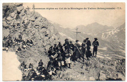 Chasseurs Alpins Au Col De La Montagne Du Vallon (Briançonnais)  (83459) - Non Classificati