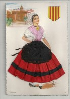 G 529  CATALANE     CARTE BRODEE - Costumes