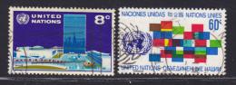 NATIONS UNIES NEW-YORK N°  215 & 216 ° Oblitérés, Used, TB  (D1395) - New-York - Siège De L'ONU