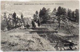Construction D' Une Batterie Par Le 159° D' Infanterie (Chasseurs Alpins)     (83466) - Non Classés
