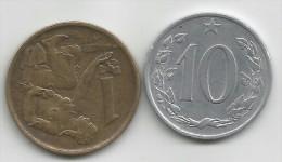 §§§ TRES BON ETAT  §§§ Ceskoslovenska 1 Et 10 KORUNA  1961 62  TTB  VOIR SCAN ! ! ! - Coins