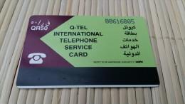 Phonecard Quatar (Used ) 2 Scans - Qatar