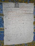 GENEALOGIE MANUSCRIT 4 Pages 1653 NOBLESSE COLLATION CONTRAT MARIAGE DE CARNAZET - Manuscrits
