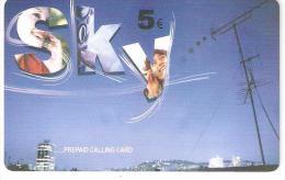 Greece-SKY Prepaid Card By Amimex 5euro,mint - Greece