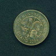 ICELAND  -  2004  100k  Circulated Coin - Iceland
