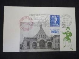 1-er Jour Provins Cité D'Art Médiéval15/09/1960 - Marcophilie (Lettres)