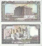 Libanon Pick-Nr: 65d Bankfrisch 1988 50 Livres - Libanon