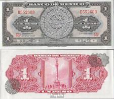Mexiko Pick-Nr: 59k Bankfrisch 1969 1 Peso - Mexico