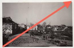 Photo Grand Duché De Luxembourg Guerre WWII Ruines Nocher ? - Guerre, Militaire