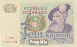 Schweden Pick-Nr: 51a (1966) Bankfrisch 1966 5 Kronor - Sweden