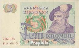 Schweden Pick-Nr: 51a (1969) Bankfrisch 1969 5 Kronor - Sweden