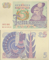 Schweden Pick-Nr: 51c (1972) Bankfrisch 1972 5 Kronor - Sweden