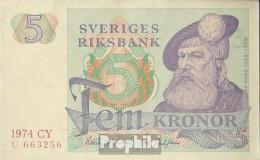 Schweden Pick-Nr: 51c (1974) Bankfrisch 1974 5 Kronor - Suède