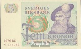 Schweden Pick-Nr: 51c (1976) Bankfrisch 1976 5 Kronor - Schweden