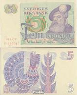 Schweden Pick-Nr: 51d (1977) Bankfrisch 1977 5 Kronor - Sweden