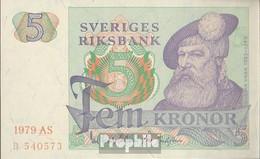 Schweden Pick-Nr: 51d (1979) Bankfrisch 1979 5 Kronor - Sweden