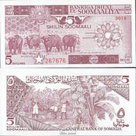 Somalia Pick-Nr: 31c Bankfrisch 1987 5 Shilling Büffel - Somalia