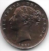 *great Britain Farthing 1853  WW Raised  Km 725  Vf+ !!! - B. 1 Farthing