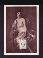CÉLÉBRITÉS Princesse CHARLOTTE Santé Red Cross Femmes Royales Monarcs 1949 Monaco Carte Postale Maximum Card Mc513 - Monaco