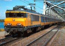 AK Eisenbahn Niederlande Hollands Diep Moerdijk-Brücke Moerdijkbrug NS Lok 1649 Alsthom/Jeumont/Schneider Nederland Zug - Trains