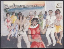 Angola MiNr. Bl. 17 ** Internationale Briefmarkenausstellung BRASILIANA `93 - Angola