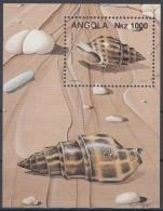 Angola MiNr. Bl. 15 ** Meeresschnecken - Angola