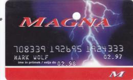 SloveniaFuel  Credit Card For Gasoline Petrol  MAGNA - Cartes De Crédit (expiration Min. 10 Ans)