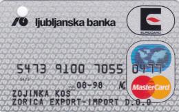 Slovenia Credit Card EUROCARD MasterCard  Ljubljanska Banka - Geldkarten (Ablauf Min. 10 Jahre)