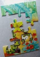 KINDER PUZZLE TYNNIE TORTUES 91 Incomplet 1 RARE Pour Pièces - Puzzles