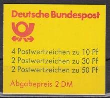 Bund MH 22 O Burgen Und Schlösser - Markenheftchen