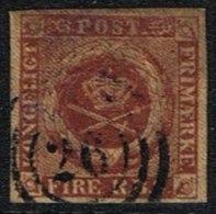1852. 4 R.B.S. Red-brown. Thiele 1st Print. 26 (Michel: 1IIa) - JF164688 - 1851-63 (Frederik VII)