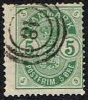 1882. Coat-of Arms. Small Corner Figures. 5 Øre Green 18. (Michel: 32) - JF164689 - 1864-04 (Christian IX)