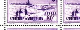 St Pierre Et Miquelon MNH Scott #189 Partial Sheet Of 25 80c Tortue Lighthouse Variety: Log-on-ice On Row 1 - Blocs-feuillets
