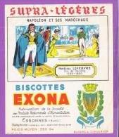 Buvard Biscottes Exona Napoléon Et Ses Maréchaux Madame Sans Gène LEFEBVRE - Biscottes