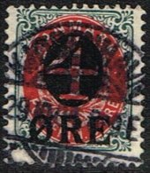 1904. Surcharge. 4 Øre On 8 Øre Red/grey. Watermark New Crown (overprint On 1902 Issue)... (Michel: 40Z) - JF164706 - 1864-04 (Christian IX)