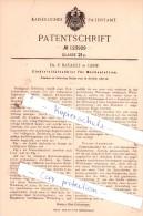 Original Patent  - Dr. E. Batault In Genf , 1898 , Elektricitätszähler Für Wechselstrom !!! - Documents Historiques