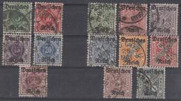 DR Lot Dienstmarken Minr.D52-D56, D57-D64 Gestempelt - Lots & Kiloware (max. 999 Stück)