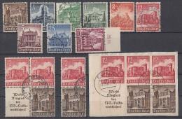 DR Lot Minr.751-759 Mit Zusammendrucken Gestempelt - Briefmarken