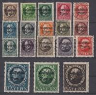 Bayern Minr.116A-133A Gestempelt - Bayern