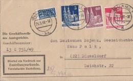 Bauten Zustellungsurkunde Mif Minr.75wg,85wg,93wg  Kiel 24.5.49 - Bizone