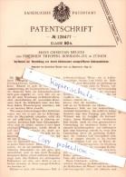 Original Patent  - Hans Christian Meurer Und Friedrich Theophil Bormann-Zix In Zürich , 1899 ,!!! - Documents Historiques