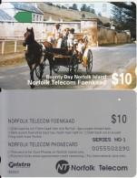 NORFOLK ISL. - Bounty Day, First Issue $10(series No 1), Tirage %25000, Used - Norfolk Island