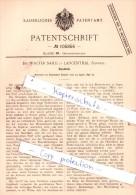Original Patent  - Dr. Walter Sahli In Langenthal , Schweiz , 1898 , Gipsbinde !!! - Documents Historiques