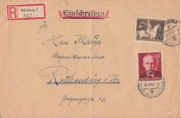 DR R-Brief Mif Minr.854,856 Nürnberg 10.8.43 - Briefe U. Dokumente