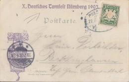 Bayern Nürnberg Karte Zum Turfest 1903 Mit SST - Bayern