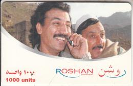 AFGHANISTAN - 2 Men, Roshan Prepaid Card 1000 Units, Used - Afghanistan