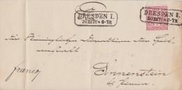 NDP Brief EF Minr.16 Dresden 1  20.12.70 Ansehen !!!!!!!!!!!!! - Norddeutscher Postbezirk
