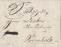 Brief Gel. Von Amsterdam 26.7.1820 Nach Varenholz - Niederlande
