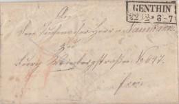 Preussen Brief R2 Genthin 22.12. - Preussen